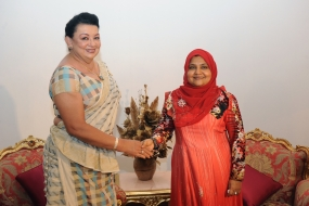 First Lady meets Maldives First Lady