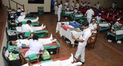 SLNS Parakrama conducts a Blood Donation