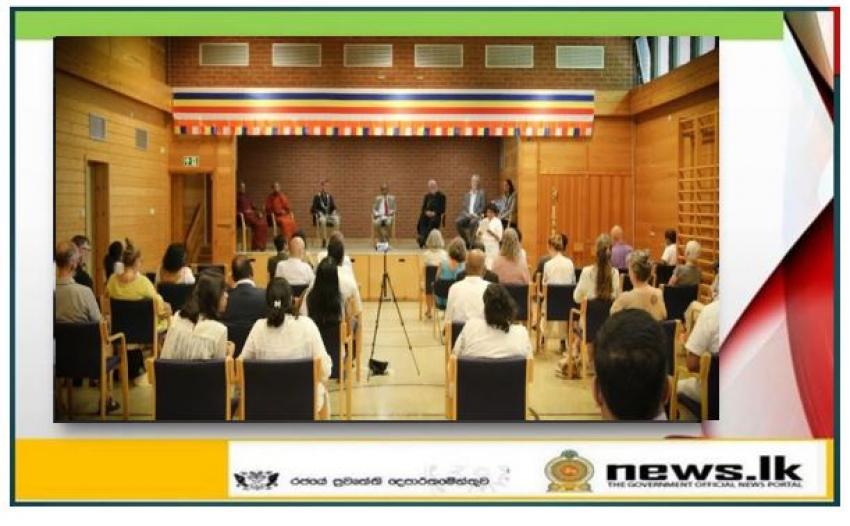 Opening ceremony of the newly established Sri Lanka Buddhist Vihara in Hurdal, Norway