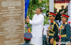 South Asia's largest Cenotaph  unveiled in Panagoda