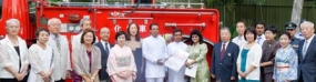 JSLFF gifts fire brigade, Ambulance to SLAF