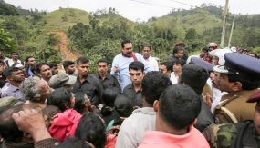 President visits landslide affected areas in Badulla District