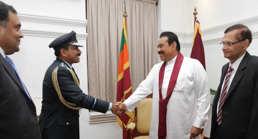 India's Air Staff Chief Calls on President Rajapaksa