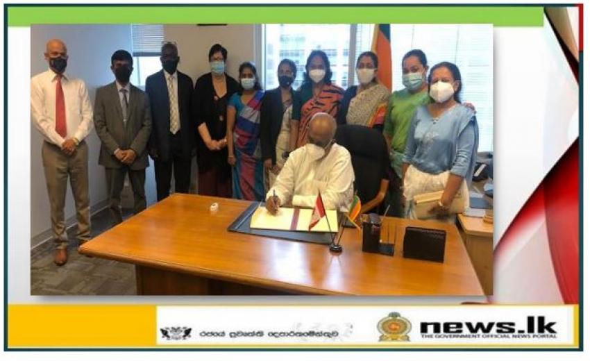 High Commissioner- designate of Sri Lanka to Canada assumes duties