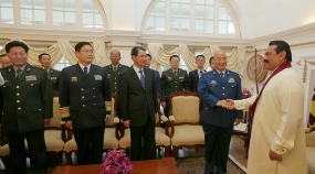 China's Highest Military Delegation  Calls on President Rajapaksa