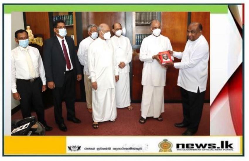 Two books containing Parliamentary speeches of Philip Gunawardena presented to the Speaker