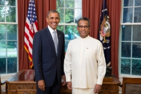 AMBASSADOR PRASAD KARIYAWASAM PRESENTS CREDENTIALS TO U.S. PRESIDENT