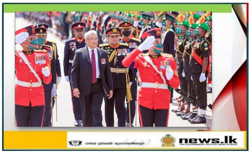 HE the President Refreshes Memories in Fort, Gajaba Regiment on Army Day