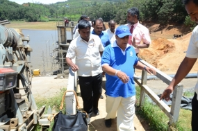 Irrigation Minister inspects Bomburuella Reservoir Rehabilitation work