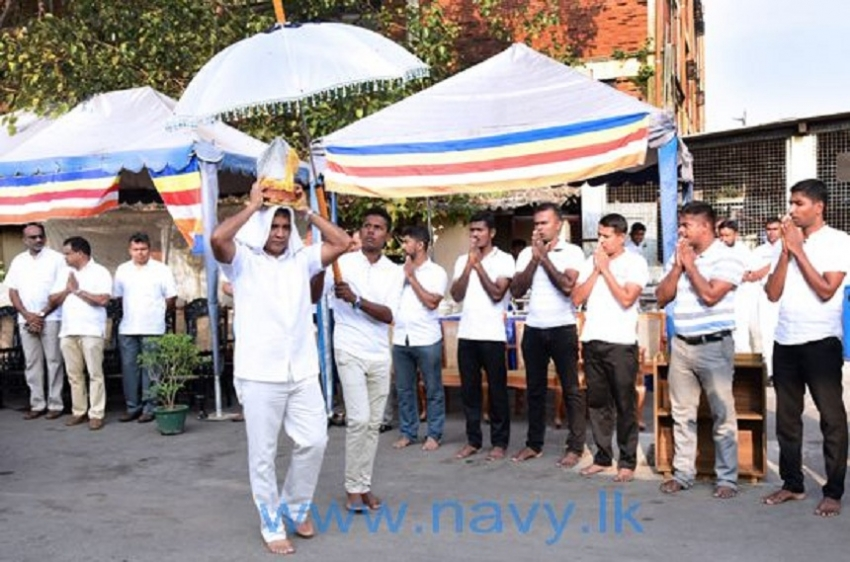 Navy  undertakes  religious programmes on'Tripitakabhivandana' Week