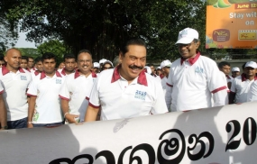 President joins National Nutrition Walk