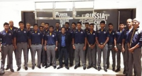 SLC President visits the Under 19 Team in Bangladesh