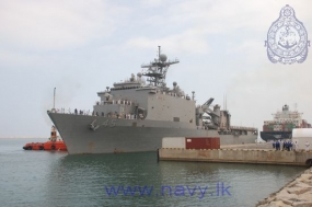 Two Indian and US Naval ships arrive at Colombo Port