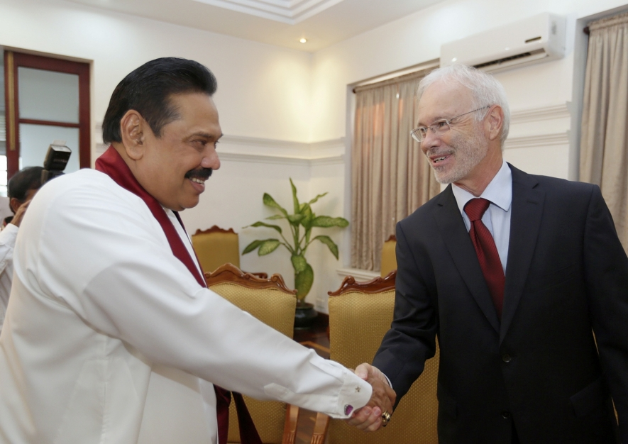 Ambassador of Switzerland to Sri Lanka and The Maldives calls on President Rajapaksa