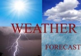 Heavy rain and lightning in many areas