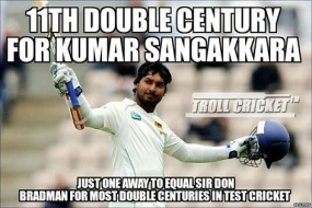 Sanga scores 11th Test double century