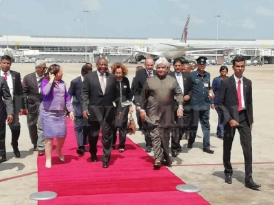 South African President makes brief visit to SL