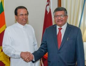 Indian minister Ravi Shankar Prasad calls on President