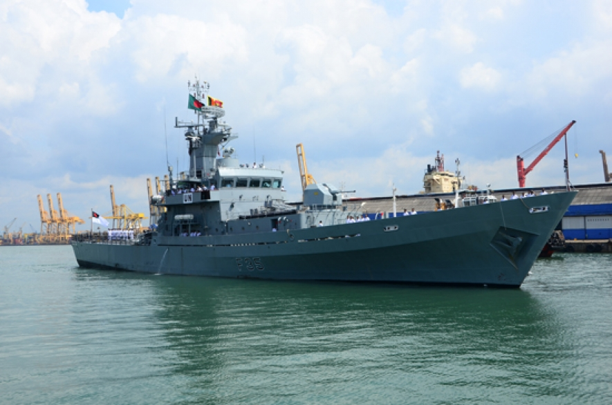 Bangladesh Naval ship in the island