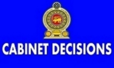 Decisions taken by the Cabinet at its Meeting held on 2014-09-18