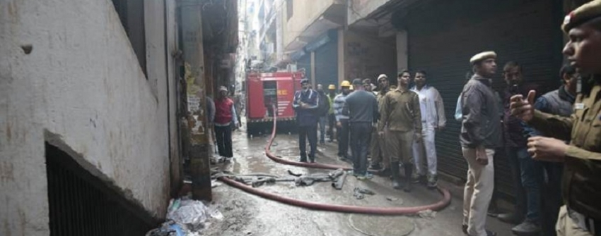 Delhi Anaj Mandi fire : Police detain factory owner, register case