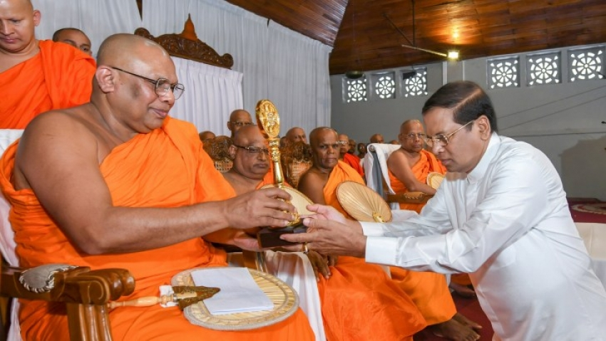 Buddhist Philosophy to strengthen the Sri Lanka international relations says President
