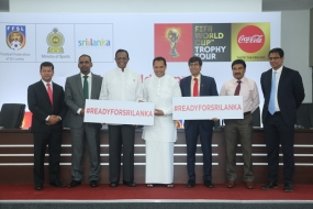 'FIFA World Cup trophy' to arrive in Sri Lanka  today