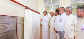 President opens cultural center in Sampur