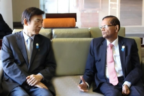 Minister Peiris holds talks with South Korean counterpart