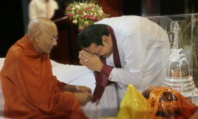 Ven. Dawuldena  Gnanissara Mahnayaka Thero felicitated on his 100th Birthday