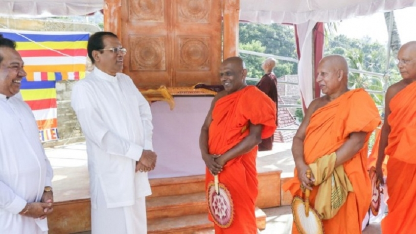 On advice of Mahasangha the country not head in  wrong direction – President