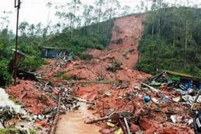 2,200 persons affected by adverse weather; landslide warning issued