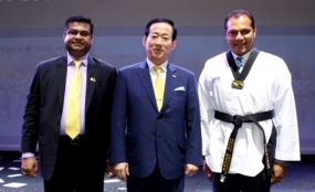 Sports Minister given Taekwondo Honorary Black Belt