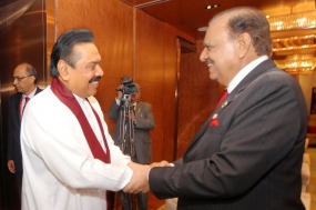 Pakistan will always support Sri Lanka, Pakistani President Tells President Rajapaksa