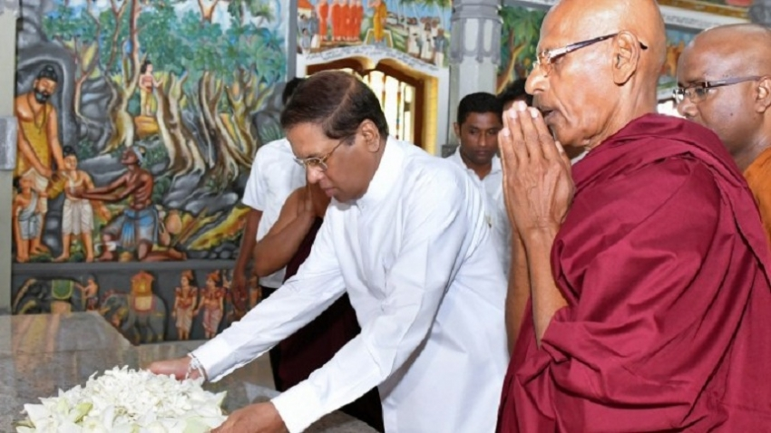 """Sadaham Yathra"" held at Saddharmalankara  Viharaya in Pinwaththa"