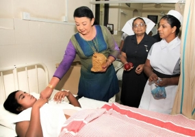 First Lady Visits the National Hospital
