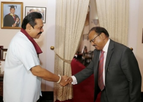 India's National Security Advisor Calls on President Rajapaksa