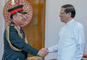 Nepal Army Chief calls on President Sirisena
