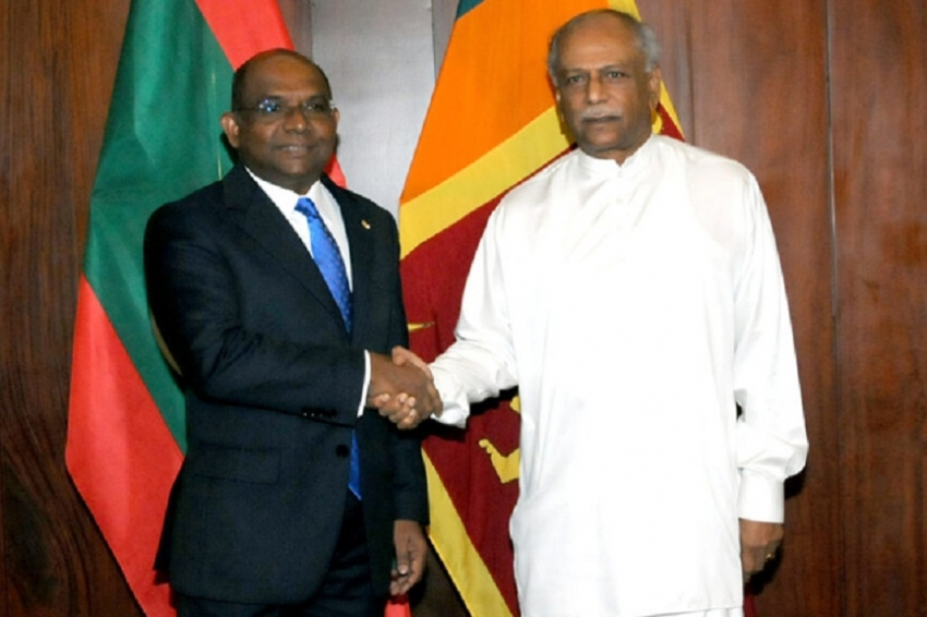 Maldivian FM appreciates deep-rooted bilateral relations with Sri Lanka