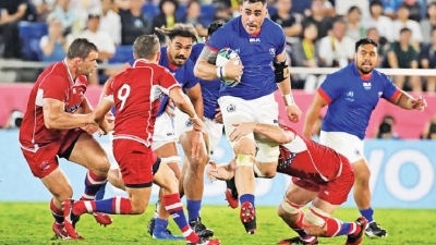 Fidow fires Samoa to bruising win over Russia