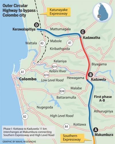 Outer Circular Highway From Kaduwela To Kadawatha To Be Opened