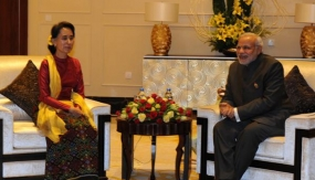PM Modi meets Myanmar pro-democracy icon Suu Kyi