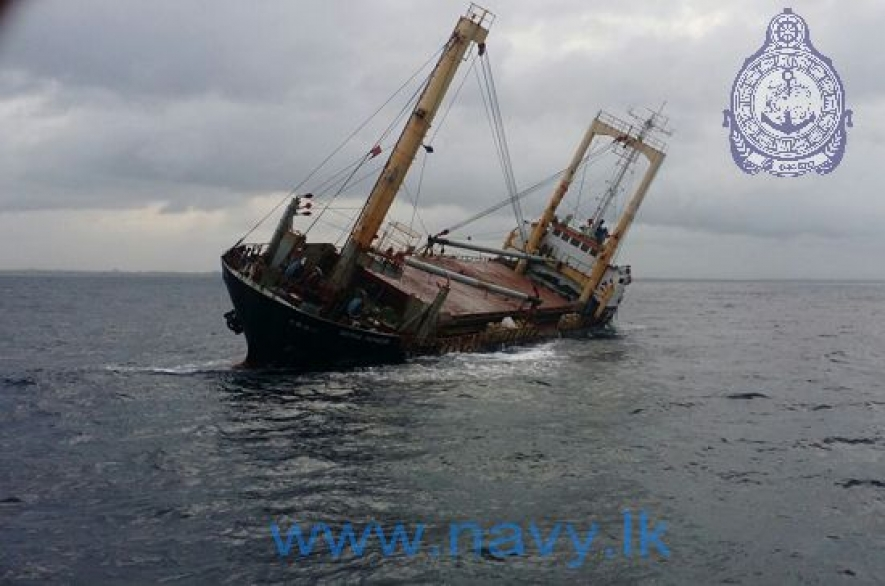 Crew of ill-fated vessel saved off Colombo