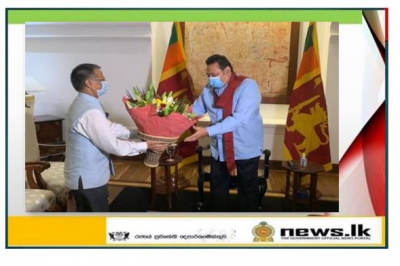 The High Commissioner of India to Sri Lanka HE Gopal Baglay called on the Prime Minister of Sri Lanka