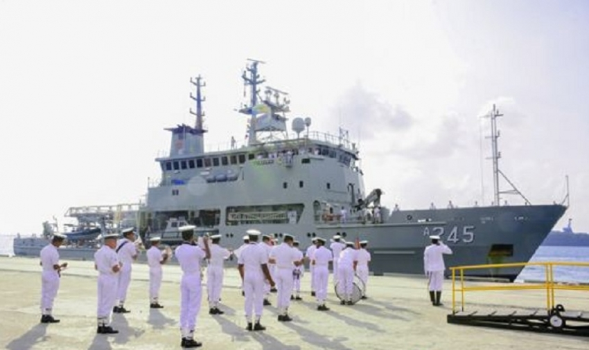 Two Australian Naval ships arrive at Trincomalee