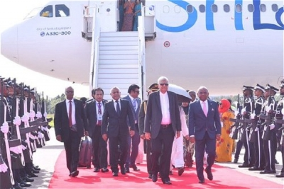 PM arrives in Maldives on official visit