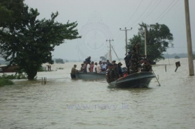 Combined effort of Tri Forces in flood relief