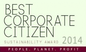 Best Corporate Citizen Sustainability Award 2014 on Nov.25