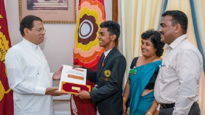 President donates Rs. one million to student who made a rocket