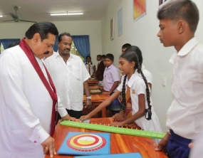 President opens Mahindodaya Technical Laboratory at Mollipathana Sinhala Vidayala